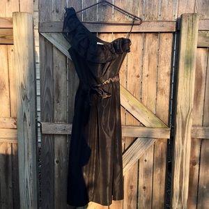 Vintage | one shoulder ruffle dress